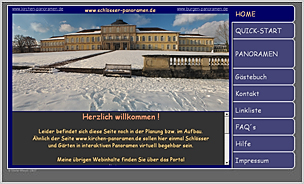 Website www.schlösser-panoramen.de